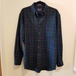 Pendleton Men's Plaid Long Sleeve Top Size Medium